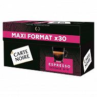 Carte Noire capsules espresso intense n°9 type nespresso x30 159g