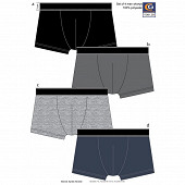 Lot de 4 boxers unis Influx basic NOIR/GRIS/GRIS/MARINE T3