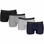 Lot de 4 boxers unis Influx basic NOIR/GRIS/GRIS/MARINE T2