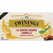 Twinings thé noir orange cannelle x25 50g