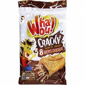 Whaou! crêpes cracky chocolat et céréales x8 256g