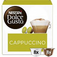 Nescafé Dolce Gusto Cappuccino, capsule café - x16 dosettes