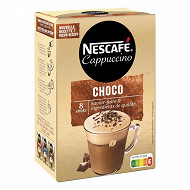 Nescafé Cappuccino choco - café soluble - 8 sticks - 148g