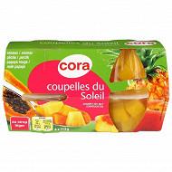 Cora coupelles de fruits du soleil 4x65g net egoutté