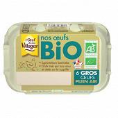 L'Oeufs de nos Villages Bio calibre gros x6
