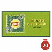 Lipton thé bio marrakech mint x20 34gr