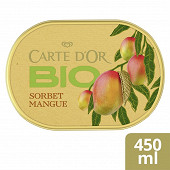 Carte d'or bac dessert glace mango 450ml - 300g