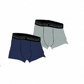 Lot de 2 boxers grandes tailles Influx MARINE ELEG+GRIS CASH T8