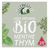 Eléphant infusion bio menthe thym x20 26g