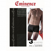 Lot de 3 boxers Business Eminence 2110 NAVETS/NOIR/CAROTTES T6