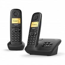 Gigaset Téléphone sans fil avec répondeur AL170 A DUO NOIR