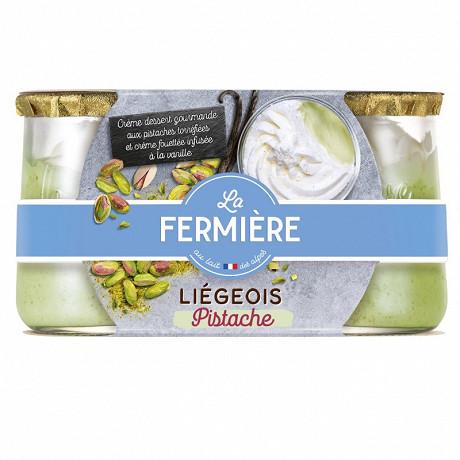 La Fermière liégeois à la pistache 2x130g