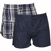 Lot de 2 caleçons fantaisie imprimé ceinture classique Influx IMP MARINE/IMP MADRAS T6