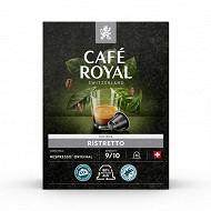Café Royal capsules aluminium ristretto type nespresso x36 190g