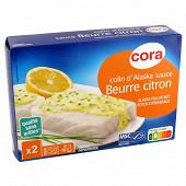 Cora colin d'Alaska sauce beurre citron 400g