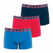 Lot de 3 boxers Full Stretch Athena 2070 BLEU/ROUGE/MARINE T2