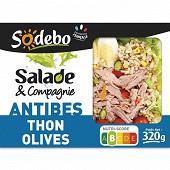 Sodebo salade Antibes riz crudités thon et olives 320g