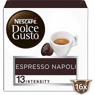 Nescafé Dolce Gusto Espresso napoli, capsule café intensité 13 - x16 dosettes