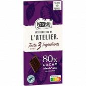 Nestlé les recettes de l'atelier noir corsé 80% cacao 100g