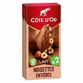 Cote d'or bloc lait noisettes 2x180g