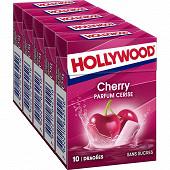 Hollywood parfum cerise 5 étuis de 10 dragées sans sucres 70g