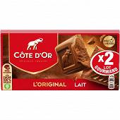 Côte d'or lait 2 x 200g