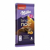 Milka tendre noir caramel 2x85g