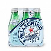San pellegrino eau minérale naturelle gazeuse 6x33cl