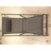 Chilienne alu 95x58.5x96cm assise polyester + pvc