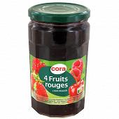 Cora confiture 4 fruits rouges bocal 750g
