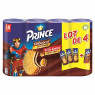 Prince lot de 4 3 goût chocolat et 1 goût tout choco 1200g
