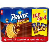 Prince lot de 4 gout chocolat 1200g