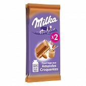 Milka amandes croquantes 2x90g