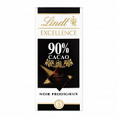Lindt excellence noir 90% cacao 100g
