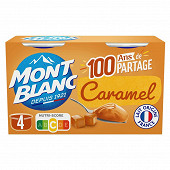 Mont Blanc mini au caramel 4x125g