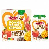 Materne ssa pomme mangue goyave cereales et graines 4x90g