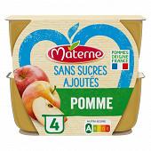 Materne sans sucres ajoutés pomme 4x100g