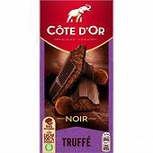 Côte d'or truffé noir 190g