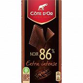Côte d'or dégustation 86% noir brut 100g