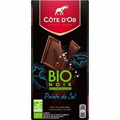 Côte d'or bio noir fleur de sel 90g