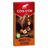 Côte d'or noir noisettes 180g
