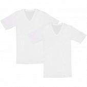 Lot de 2 tee shirts manches courtes col V Influx basic BLANC T4