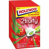 Hollywood max fraise citron vert 3 étuis de 10 dragées sans sucres 66g