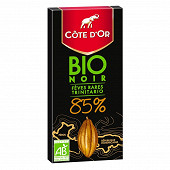 Cote d'or bio noir 85% 90g