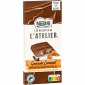 Nestlé Les Recettes de L'Atelier tablette de chocolat au lait ganache caramel 143g