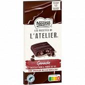 Nestlé Les Recettes de l'Atelier tablette de chocolat ganache noir et pointe de sel 144g