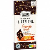 Nestlé les recettes de l'atelier chocolat noir oranges confites 115 g
