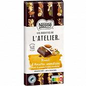 Nestlé Les Recettes de L'Atelier tablette de chocolat noir muesli et noisettes caramélisées 170g