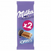 Milka tablette chocolat oreo 2 x 100g