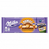 Milka xl caramel et noisettes entières 300g